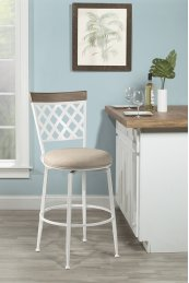 Greenfield Commercial Grade Swivel Bar Stool - White