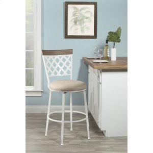 Hillsdale FurnitureGreenfield Commercial Swivel Bar Stool - White