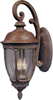 Knob Hill Cast 3-Light Outdoor Wall Lantern