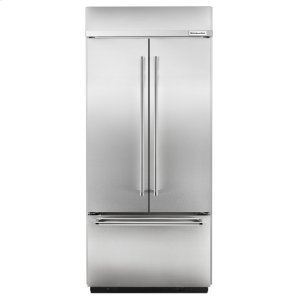 "Kitchenaid20.8 Cu. Ft. 36"" Width Built-In Stainless French Door Refrigerator - Stainless Steel"