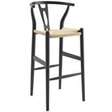 Amish Wood Bar Stool in Black Product Image