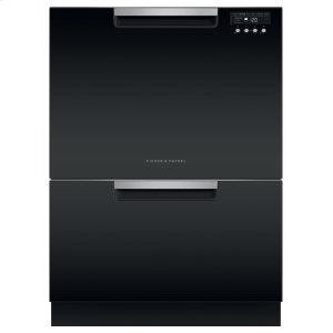 Double DishDrawer Dishwasher, Tall, Sanitize - BLACK