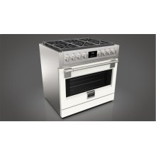 "36"" All Gas Pro Range - Matte White"