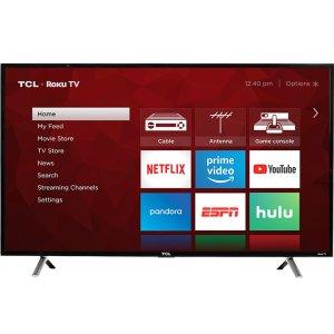 "TCLTCL 49"" Class 4-Series 4K UHD HDR Roku Smart TV - 49S405"