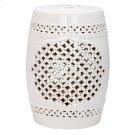 Quatrefoil Garden Stool - Cream Product Image