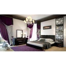 Nova Domus Romeo Italian Modern Black & Rosegold Bedroom Set