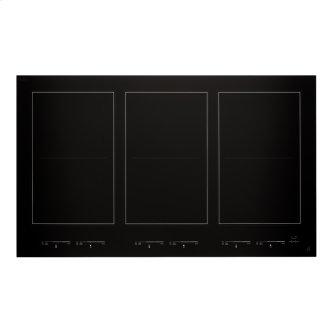 """36"""" Oblivion Glass Induction Flex Cooktop, Floating Glass Black"""