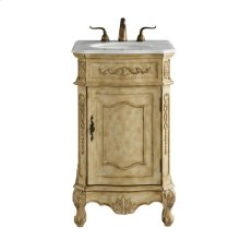 21 In. Single Bathroom Vanity Set In Antique Beige