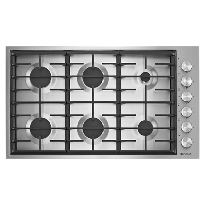 """JennairEuro-Style 36"""" 6-Burner Gas Cooktop"""