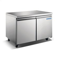"48"" 2 Door Stainless Steel Undercounter Freezer"