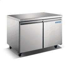 """48"""" 2 Door Stainless Steel Undercounter Freezer"""