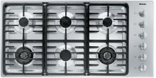 "42"" 6-Burner KM 3485 G Gas Cooktop - 42"" SS Cooktop Linear grate"
