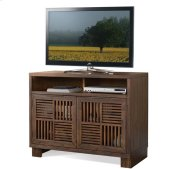 Modern Gatherings Media Chest Brushed Acacia finish Product Image