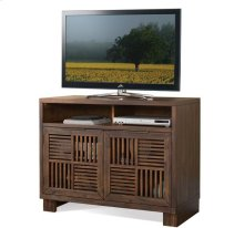 Modern Gatherings Media Chest Brushed Acacia finish