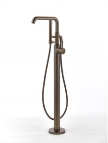 Taos Floor-mount Tub Filler with Handshower - Bronze