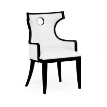 Greek Revival Biedermeier Black Armchair - COM