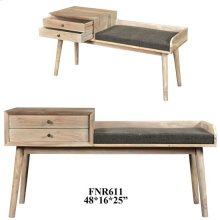 Bengal Manor Mango Wood 2 Drawer Accent Bench