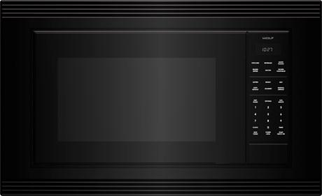 "WolfStandard Microwave 27"" Black Trim - E Series"