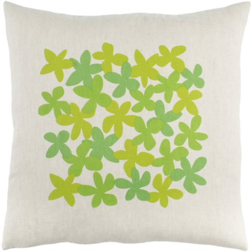 "Little Flower LE-003 20"" x 20"" Pillow Shell with Down Insert"