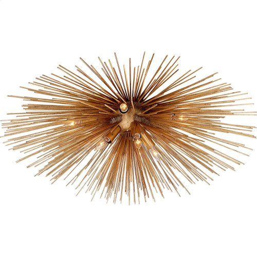 Visual Comfort KW4071G Kelly Wearstler Strada 10 Light 40 inch Gild Flush Mount Ceiling Light, Kelly Wearstler, Large