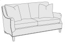 Hamilton Loveseat in Molasses (780) Product Image