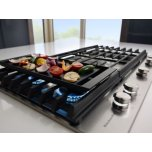 """36"""" 5-Burner Gas Cooktop With Griddle - Stainless Steel"""
