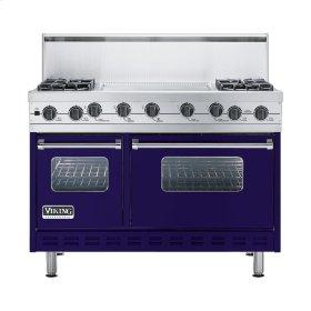 """Cobalt Blue 48"""" Sealed Burner Self-Cleaning Range - VGSC (48"""" wide, four burners & 24"""" wide griddle/simmer plate)"""