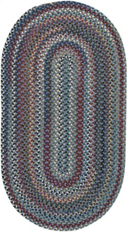 Yorktowne Blue Braided Rugs (Custom)