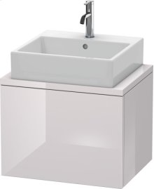 Delos Vanity Unit For Console Compact, White Lilac High Gloss Lacquer