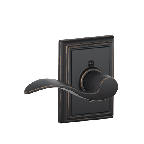 Accent Lever with Addison trim Non-turning Lock - Aged Bronze