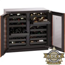"""Stainless Double Door, lock model Modular 3000 Series / 36"""" Wine Captain® /Dual Zone Convection Cooling System"""