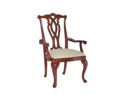 Pierced Back Arm Chair