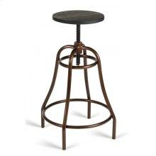 Modrest Fritch Modern Black & Bronze Bar Stool