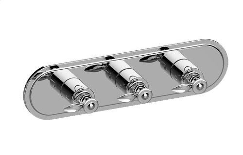 Topaz M-Series Valve Horizontal Trim with Three Handles
