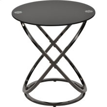 Carlyn Accent Table in Black Nickel