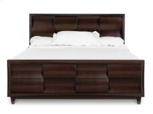 Complete Queen Panel Bed with Storage Footboard