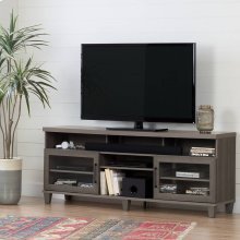 TV Stand for TVs up to 75'' - Gray Maple