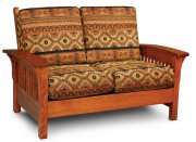 Grand Rapids Loveseat, Leather Cushion Seat Product Image