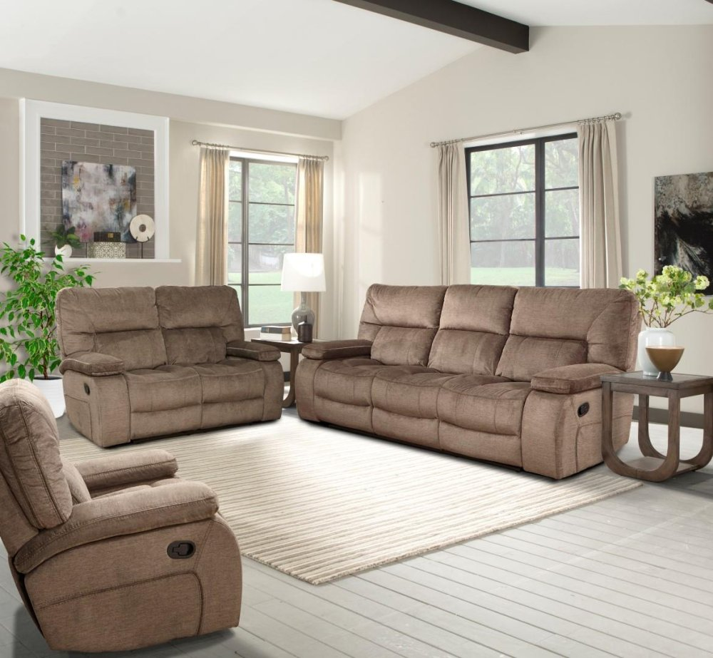 Charmant Manual Dual Reclining Sofa With Drop Down Console With Cup Holders And Usb  Charging Port