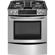 "Slide-In Gas Downdraft Range with Convection, 30"", Euro-Style Stainless Handle"