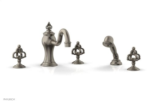 COURONNE Deck Tub Set with Hand Shower 163-48 - Pewter