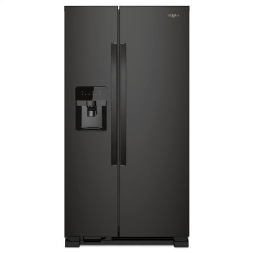 Whirlpool® 36-inch Wide Side-by-Side Refrigerator - 24 cu. ft. - Black