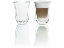 2 Latte Macchiato Glasses for use with Espresso Machines