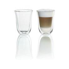2 Latte Macchiato Glasses for use with Espresso Machines
