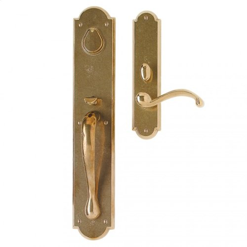 """Arched Entry Set - 3 1/2"""" x 20"""" Silicon Bronze Light"""