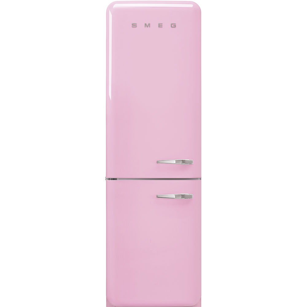 "Smeg'50s Style No Frost' Fridge-Freezer, Pink, Left Hand Hinge, 60 Cm (Approx 24"")"