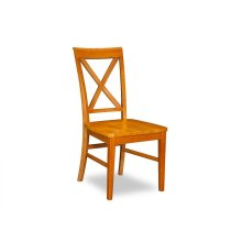 Lexi Dining Chairs Set of 2 with Wood Seat in Caramel Latte