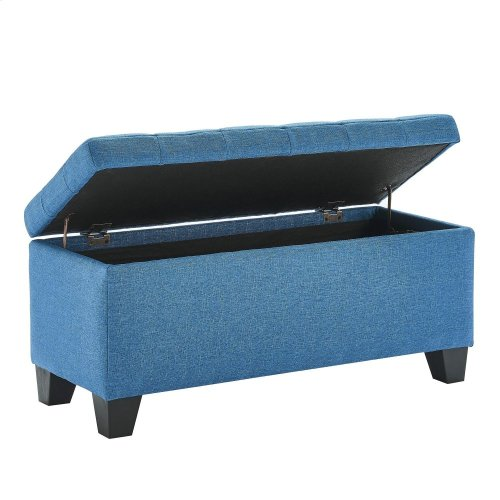 Lila Storage Ottoman in Blue