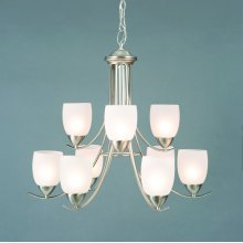 Mirror Lake Collection Nine Lights Chandelier