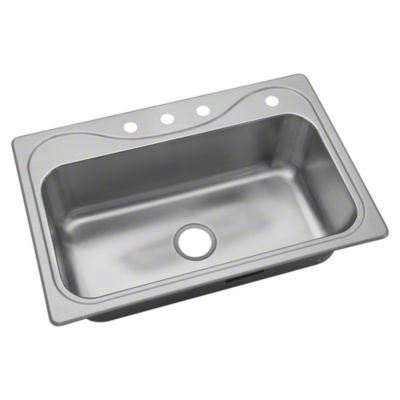 Southhaven ® Single Basin Sink, 20 Gauge Stainless Steel